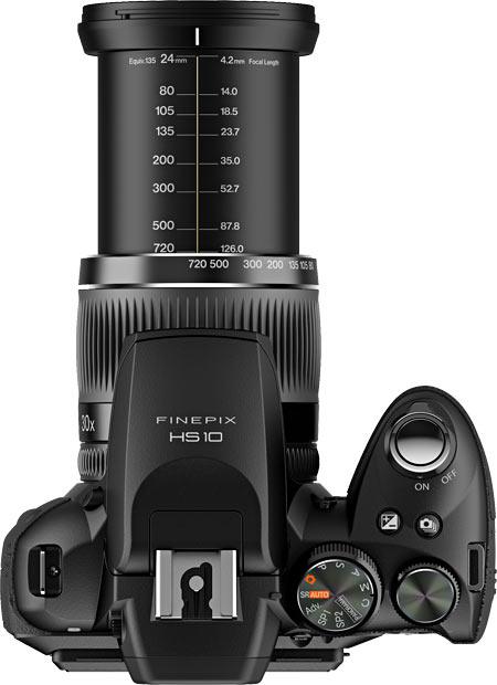 Fujifilm HS10 Top View