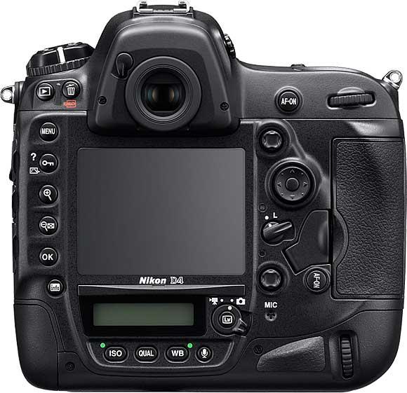 Nikon D4 Back View