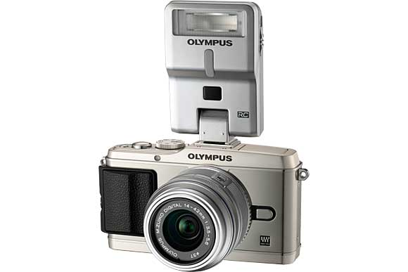 Olympus PEN E-P3 with External Flash