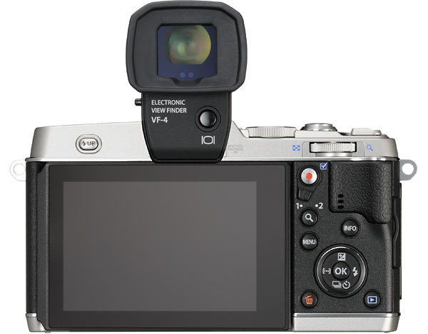 Olympus PEN E-P5 with optional high-definition VF-4 viewfinder