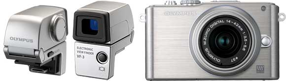 Olympus E-PL3 and VF-3 EVF
