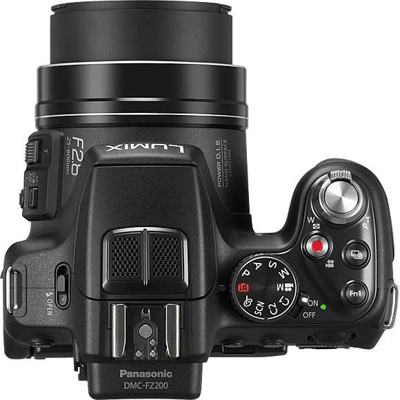 Panasonic Lumix DMC-FZ200 Top View