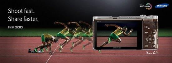 Samsung NX300 and Olympic Athlete Usain Bolt