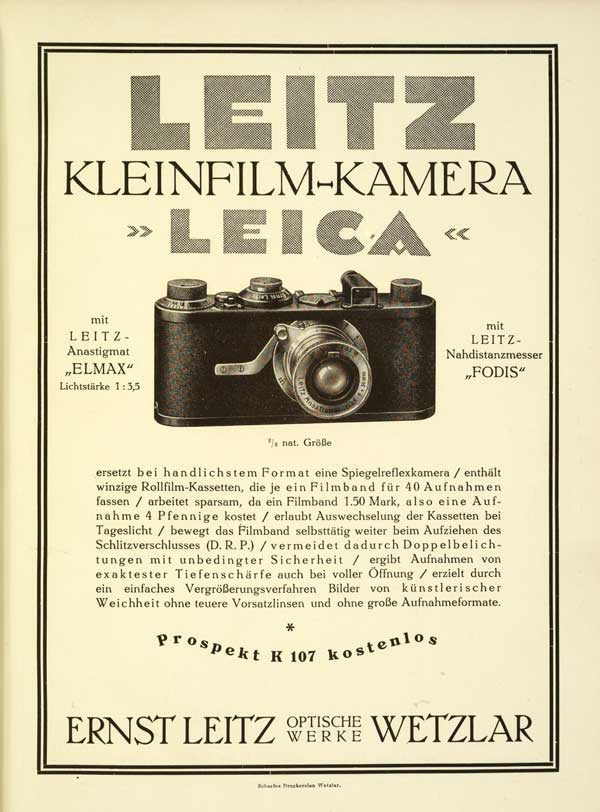 1925 Leica Advertising