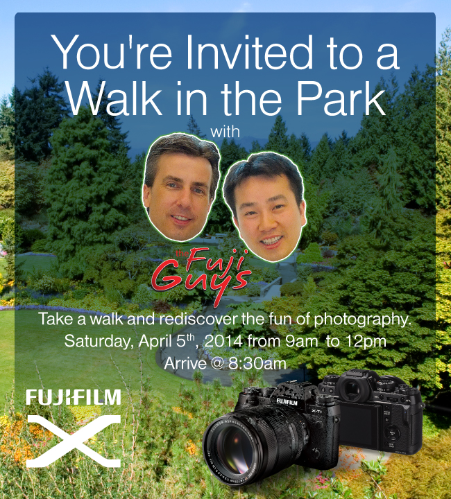 "Fujifilm ""Walk in the Park"" tour in Vancouver, British Columbia, Canada April 5, 2014"