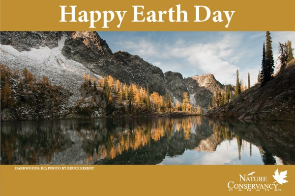 A Nature Conservancy of Canada's Earth Day tribute e-card.