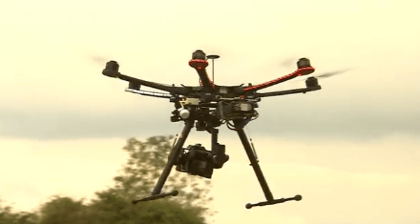 """Hexacopter"" Drone Flying Camera"