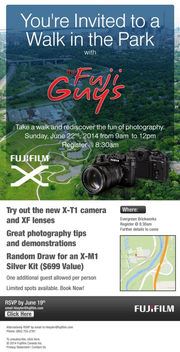 Fujifilm Canada's Walk in the Park with the Fuji Guys in Toronto, Ontario, Canada.