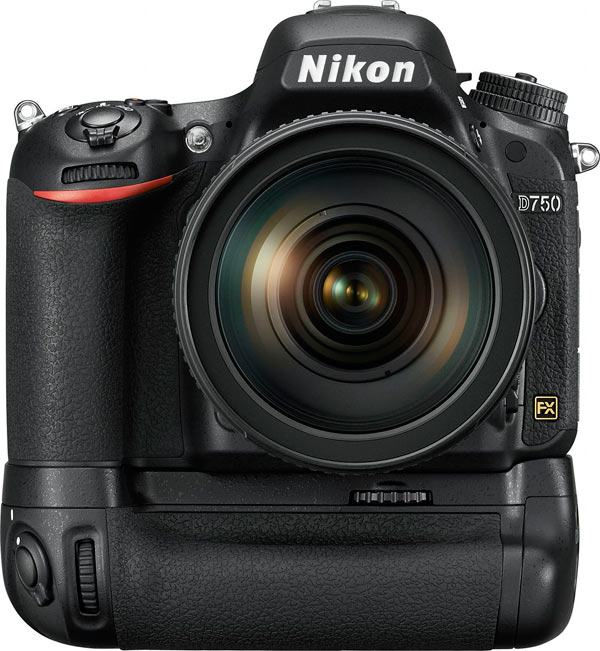Nikon D750 with the MB-D16 battery pack/grip