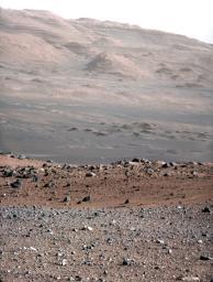 """Focusing the 100-millimeter Mastcam."" Image Credit: NASA/JPL-Caltech/MSSS."
