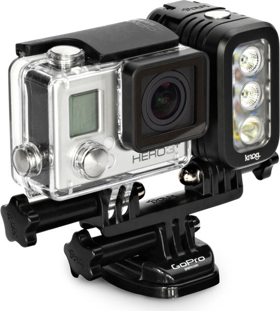 Qudos Action in Midnight Black with GoPro Mount and Hero 3+