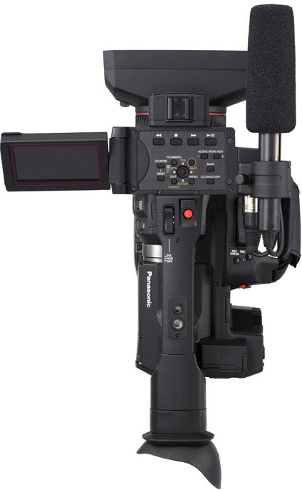 Panasonic AJ-PX270 P2 HD camcorder, top
