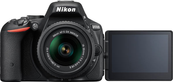 "Nikon D5500 with 18-55mm VR II Lens Kit .""The Nikon D5500 is a compact DSLR capable of inspiring a new level of creativity. From the moment you flip the touchscreen Vari-angle display and capture an ultra-sharp 24.2-megapixel photo, you'll begin to see your photography in a new light."""