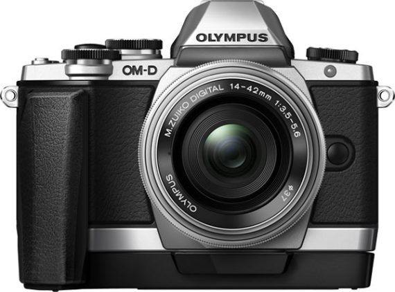 Olympus OM-D E-M10 with 14‑42mm lens and ECG‑1 Camera Grip