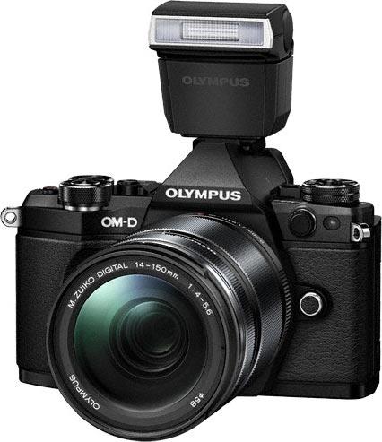 OM-D E-M5 Mark II includes a dustproof and splashproof bundled flash, the FL-LM3.