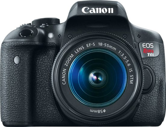 Canon EOS Rebel T6i with EF-S 18-55 IS STM Lens