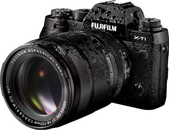 Fujifilm X-T1 camera with Fujinon XF18-135mm F3.5-5.6 R LM OIS WR lens