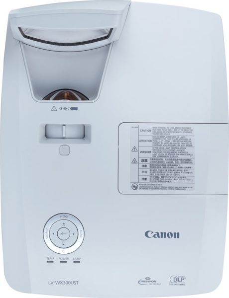 Canon Ultra-short Throw Multimedia Projector LV-WX300UST, top and front