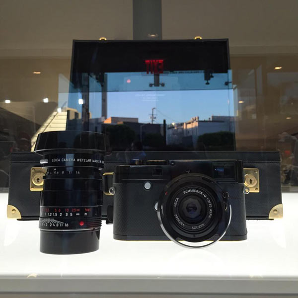 The Leica M-P 240 Correspondent edition by Lenny Kravitz at the Leica Store Los Angeles: Image by Leica
