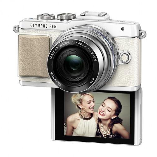 Olympus PEN E-PL7 Camera, white-silver