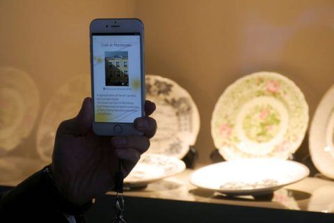 """""""Museum signage"""" via Panasonic's light ID solution using a smartphone: Image extracted from video below"""
