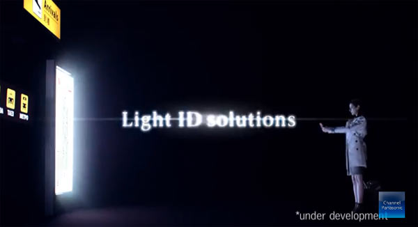 Panasonic Light ID (identifier) Technology: Image extracted from video below.