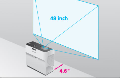 """Turn any space into a multimedia showroom with the Ricoh PJ WX4141N/PJ WX4141NI. """"Using innovative, free-form mirror technology, the projection system projects high-quality, high-definition images onto flat surfaces from only inches away (between 4.6"""" and 9.8""""). It produces at least 3,300 lumens with 1280 x 800 WXGA resolution ..... Its prism surface controls light reflection and delivers greater contrast for crisper images. And, its innovative audio system lets you choose from multiple sensory modes (standard/narration/music), so you can provide more comfortable audio performance to accommodate different types of presentations."""""""