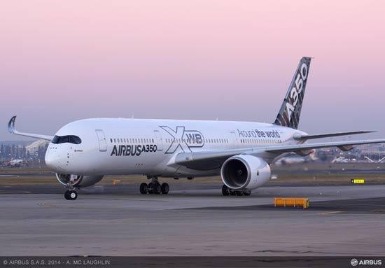 The Airbus A350 XWB aircraft