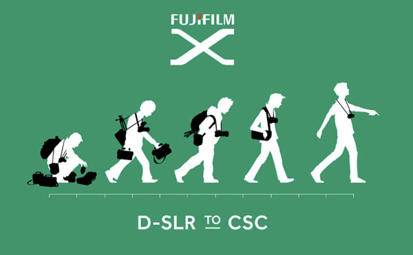 """Evolve"" from D-SLR (Digital Single-Lens Reflex) Camera to CSC (Compact System Camera) - Fujifilm X Series Cameras: Courtesy of Fujifilm"