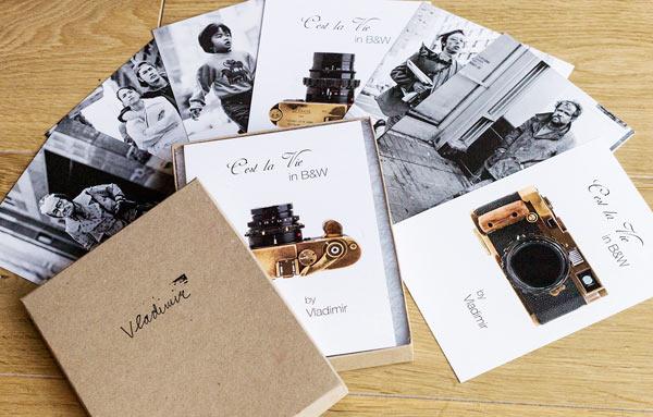 A postcard set consisting of five photographs. Image Courtesy Leica Store San Francisco