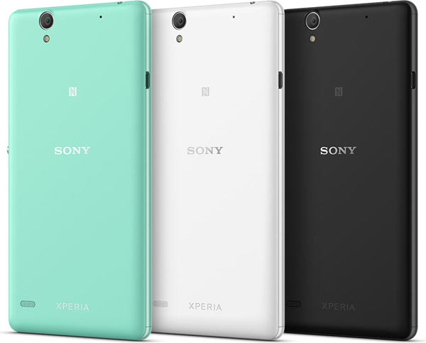 Sony Xperia C4 and Xperia C4 Dual: Colour options include (left to right) mint, white and black