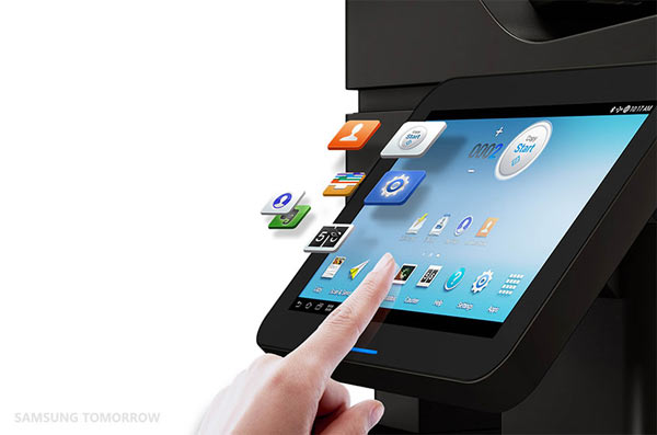 Samsung Smart MultiXpress series printer: apps