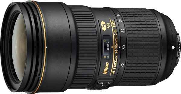 AF-S NIKKOR 24-70mm f/2.8E ED VR: Professional lens for portraits, landscapes and weddings