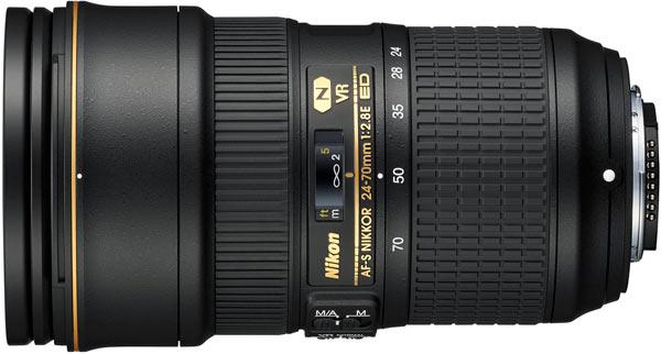 AF-S NIKKOR 24-70mm f/2.8E ED VR: Professional lens for portraits, landscapes and weddings