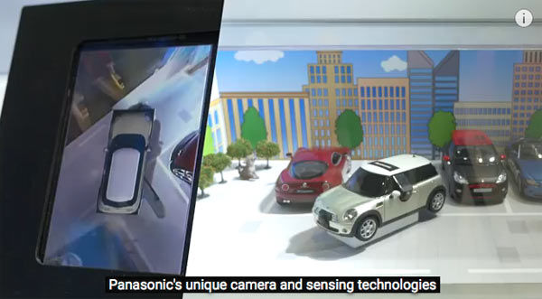 The 360-degree view cameras system equipped with Panasonic's unique camera and sensing technologies. Image grab from video below.