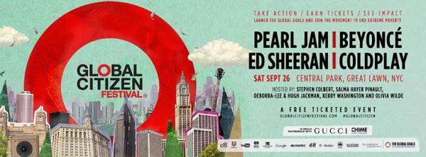 Global Citizen Festival, September 26 2015, NYC
