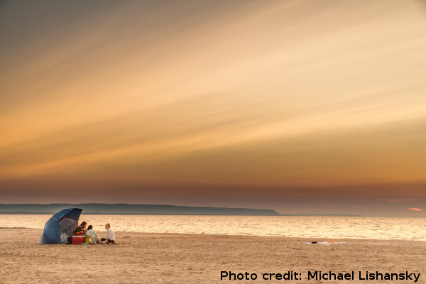 Description: Sunrise, Wasaga Beach, Ontario. Photo Credit: Michael Lishansky