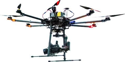 Sony PXW-FS5 4K on a drone