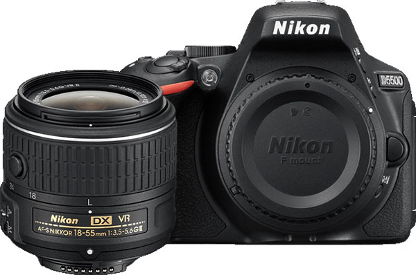 Nikon D5500 (body with AF-S DX NIKKOR 18-55mm f/3.5-5.6G VR II lens)