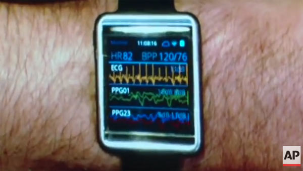 Samsung's Wearable Health Device: Image grab from video below