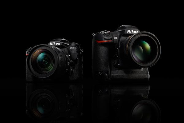 Nikon D500 (left) and Nikon D5 (right)