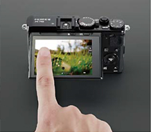 FUJIFILM X70, black: Touch Panel