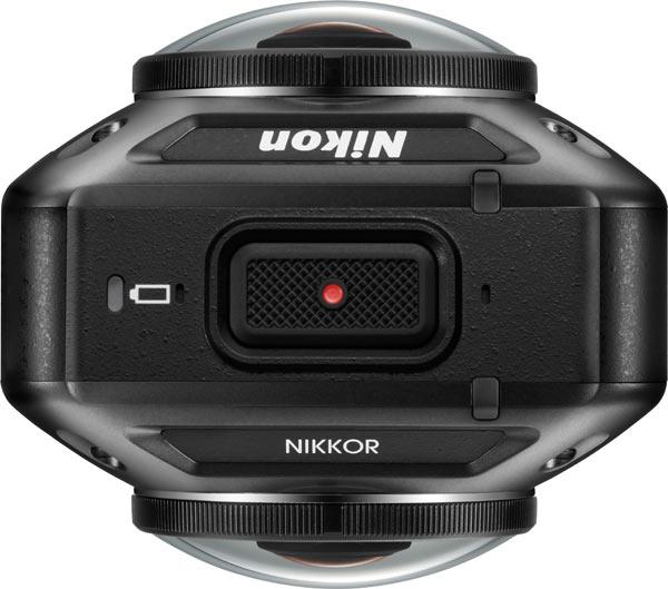 Nikon KeyMission 360, top