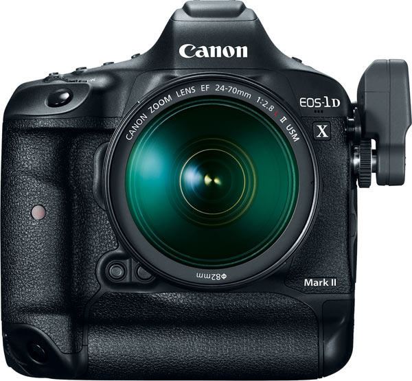 Canon EOS-1D X Mark II with optional accessory Wireless File Transmitter WFT-E8