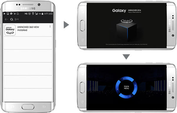 """Watching """"Galaxy Unpacked"""" on Gear VR"""