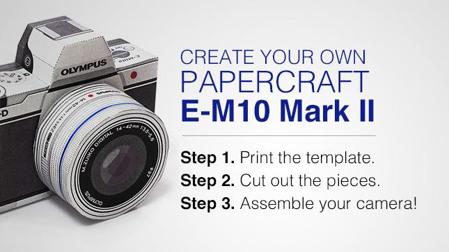 Olympus E-M10 Mark II Papercraft
