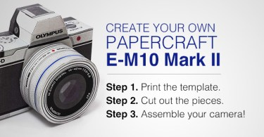 Olympus E-M10 Mark II Papercraft
