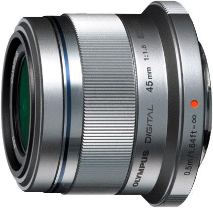M.ZUIKO DIGITAL 45mm f/1.8 prime lens