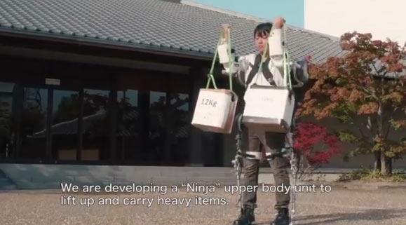 "Panasonic's upper body unit of the ""Ninja"": Image grab from video above"