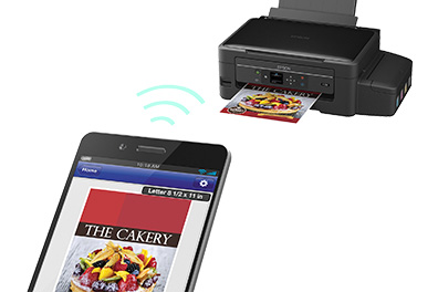 Mom can print from her smartphone with Epson Connect.